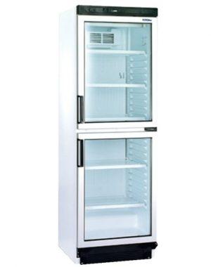Chladnička biela presklená ventilovaná dvojdverová 372 l, FS 2380 - 1
