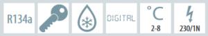 Chladnička biela presklená ventilovaná dvojdverová 372 l, FS 2380