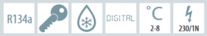 Chladnička biela ventilovaná 372 l, SD 1380