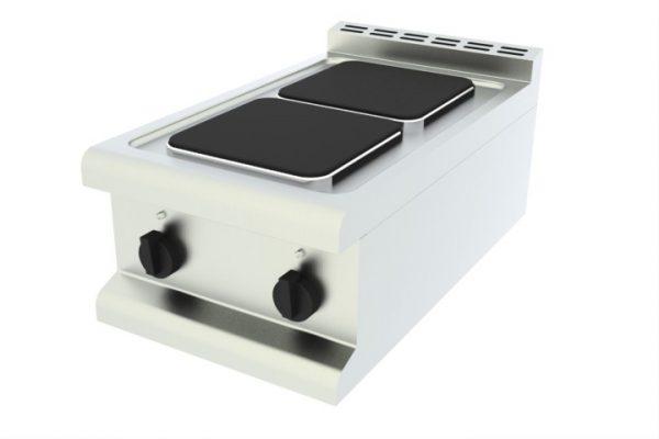 Elektrické varidlo - 2 štvorcové platne, stolné - 1