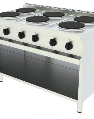 Elektrický sporák - 6 kuhových platní, otvorená podstavba - 1