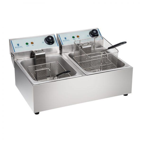 Fritéza - 2 x 10 litrov - ECO - ROYAL CATERING 1255 1