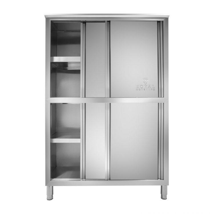 Nerezová kuchynská skriňa - 120 cm - 1
