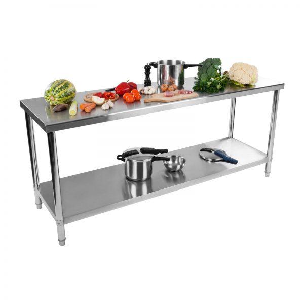 Nerezový pracovný stôl - 200 x 60 cm - 1