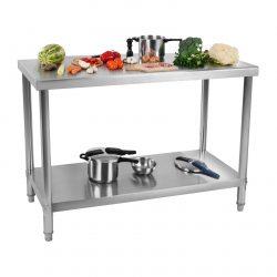 Pracovný stôl z ušľachtilej ocele 120 x 70 cm - 1