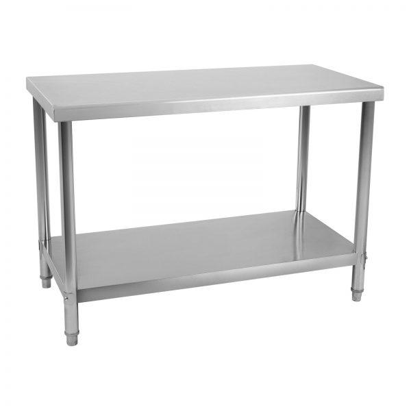 Pracovný stôl z ušľachtilej ocele 120 x 70 cm - 2