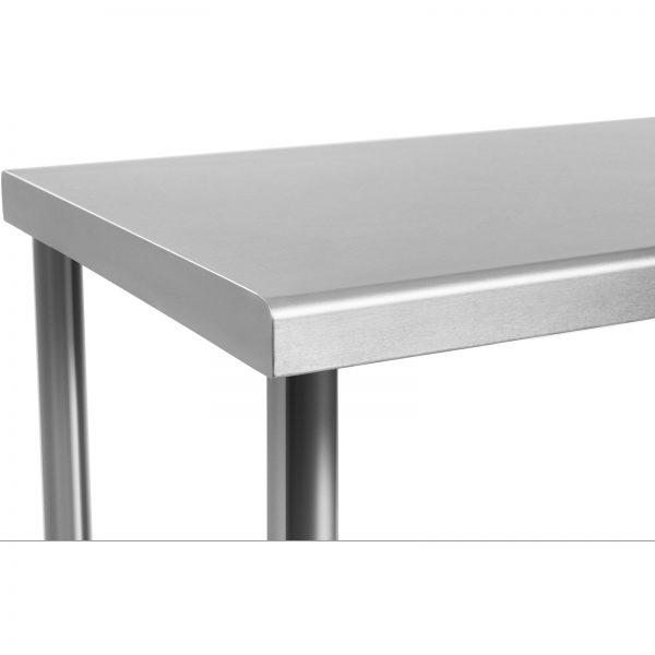 Pracovný stôl z ušľachtilej ocele 120 x 70 cm - 3