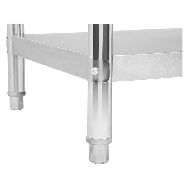 Pracovný stôl z ušľachtilej ocele 120 x 70 cm - 6