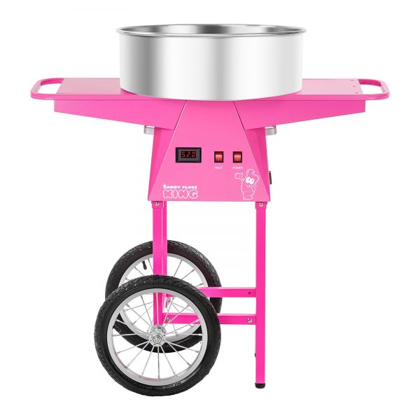 Stroj na cukrovú vatu s vozíkom - 52 cm - 1.030 wattov - 2
