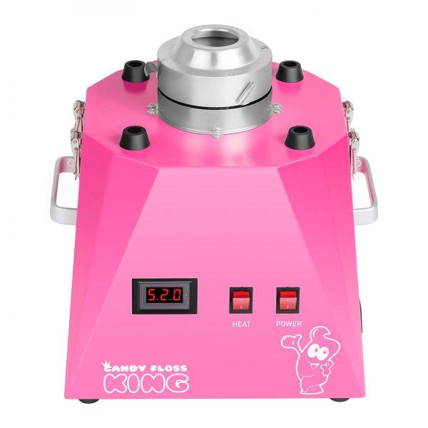 Stroj na cukrovú vatu s vozíkom - sada - 52 cm - ružováružová - 3