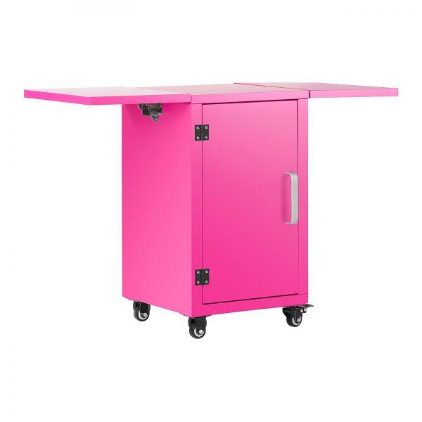 Stroj na cukrovú vatu s vozíkom - sada - 52 cm - ružováružová - 7