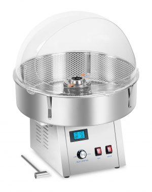 Stroj na cukrovú vatu - sada - so sieťkovým stabilizátorom a ochranným krytom - 62 cm - ušľachtilá oceľ - 1