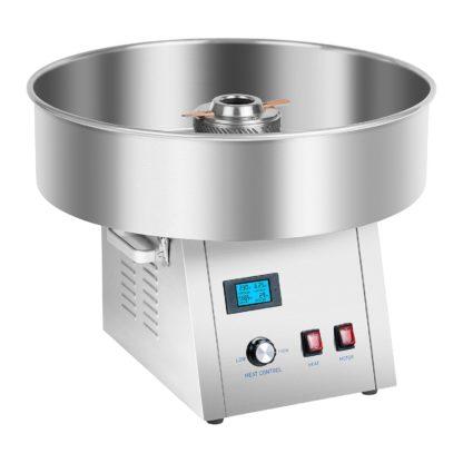 Stroj na cukrovú vatu - sada - so sieťkovým stabilizátorom a ochranným krytom - 62 cm - ušľachtilá oceľ - 2