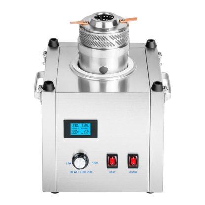 Stroj na cukrovú vatu - sada - so sieťkovým stabilizátorom a ochranným krytom - 62 cm - ušľachtilá oceľ - 3