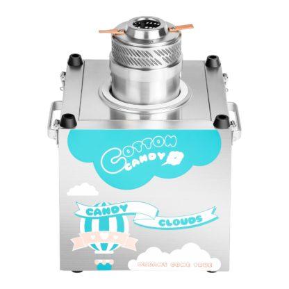 Stroj na cukrovú vatu - sada - so sieťkovým stabilizátorom a ochranným krytom - 62 cm - ušľachtilá oceľ -4
