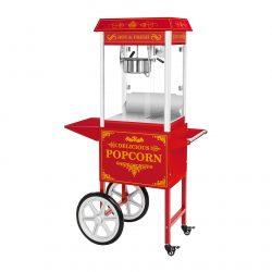 Stroj na popcorn vrátane vozíka - retro dizajn - červený | RCPW.16.2