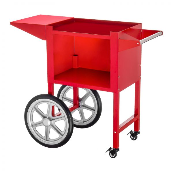 Stroj na popcorn vrátane vozíka - retro dizajn - červený - 10
