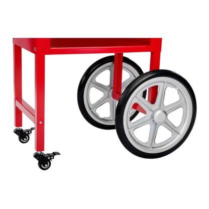 Stroj na popcorn vrátane vozíka - retro dizajn - červený - 11