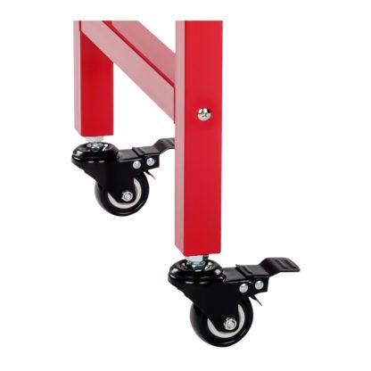 Stroj na popcorn vrátane vozíka - retro dizajn - červený - 12