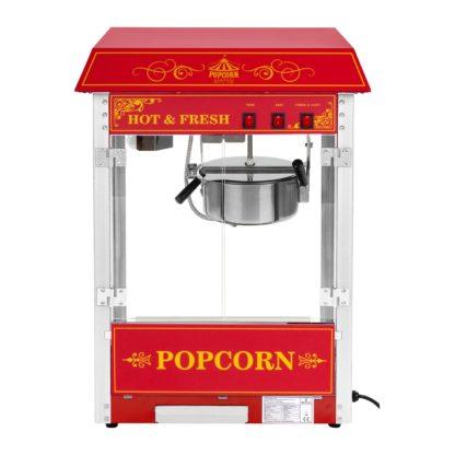 Stroj na popcorn vrátane vozíka - retro dizajn - červený - 3