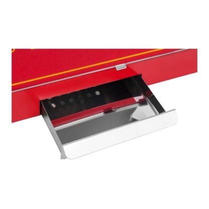 Stroj na popcorn vrátane vozíka - retro dizajn - červený - 6