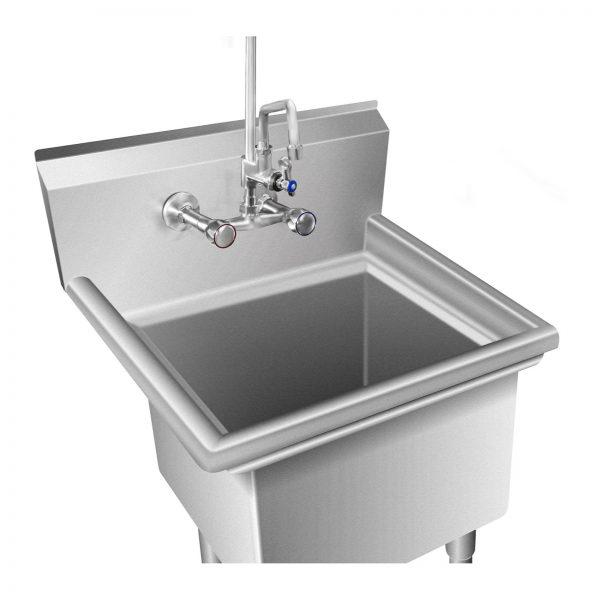 Umývací stôl - 1 umývadlo - 58 x 60 x 110 cm -2