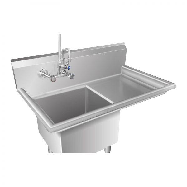 Umývací stôl - 1 umývadlo a plocha na odkvapkávanie - 2