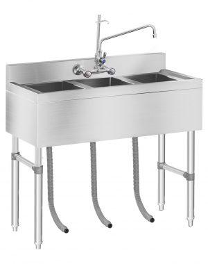 Umývací stôl - 3 umývadlá - 100 x 50 x 97 cm - 1