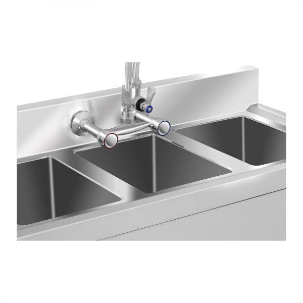 Umývací stôl - 3 umývadlá - 100 x 50 x 97 cm - 2