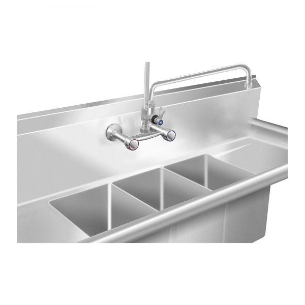 Umývací stôl - 3 umývadlá - 50 x 150 x 110 cm - 2