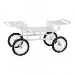 Vozík na stroj na cukrovú vatu - 4 kolieska - biely   RCZT-01W