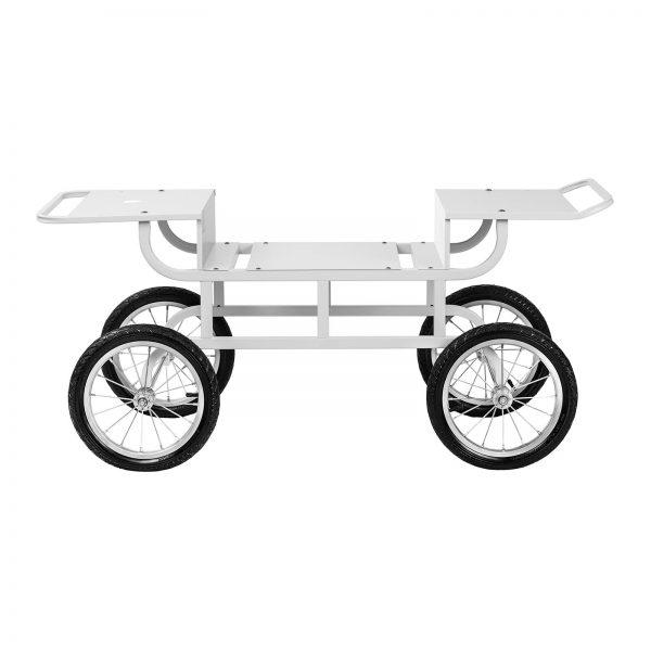 Vozík na stroj na cukrovú vatu - 4 kolieska - biely - 2