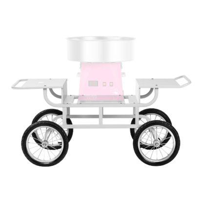 Vozík na stroj na cukrovú vatu - 4 kolieska - biely - 4