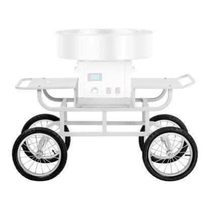 Vozík na stroj na cukrovú vatu - 4 kolieska - biely - 5