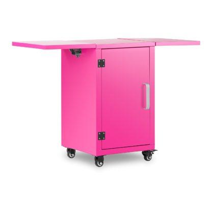 Vozík na stroj na cukrovú vatu - ružový - so skrinkou - 1