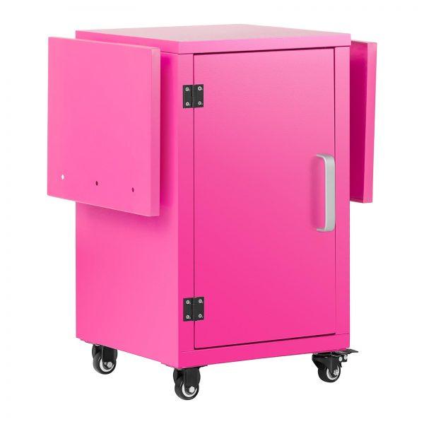 Vozík na stroj na cukrovú vatu - ružový - so skrinkou - 2