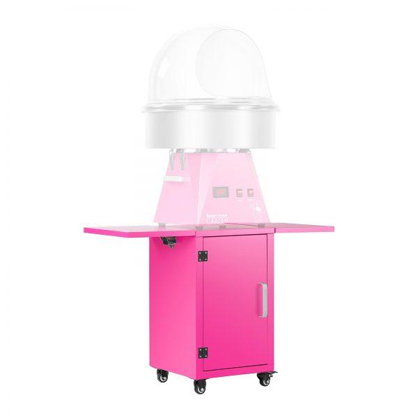 Vozík na stroj na cukrovú vatu - ružový - so skrinkou - 4Vozík na stroj na cukrovú vatu - ružový - so skrinkou - 4