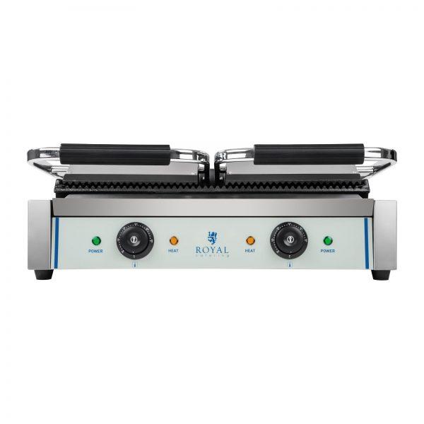 Kontaktný gril - 2 x 1800 wattov - ryhovaný - 2.0 - 4Kontaktný gril - 2 x 1800 wattov - ryhovaný - 2.0 - 4