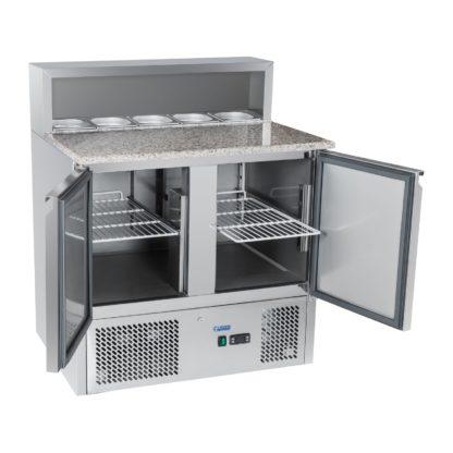 Chladiaci pizza stôl - 90 x 70 cm - žulová pracovná doska - 2.0 3