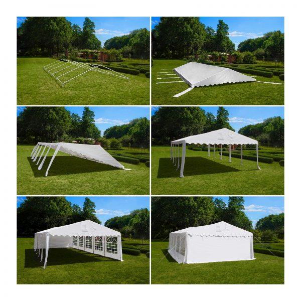 Cateringový párty stan - 4 x 4 m - 500 g m² - 5