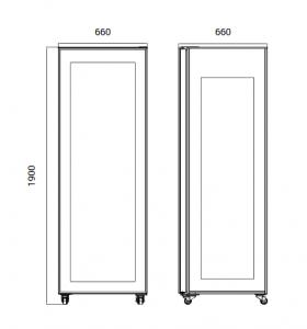 Chladiaca vitrína RT 400L-2 -