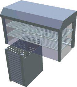 Chladiaca vitrína obslužná T-CHV1-O - 1