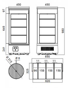Chladiaca vitrína pultová RTC 72L - 1