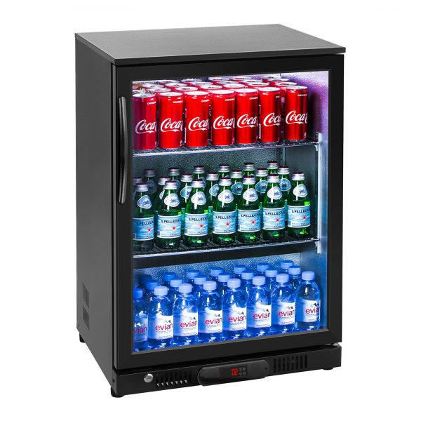 Chladnička na nápoje - 138 L - práškovaná oceľ (čierna) - 2