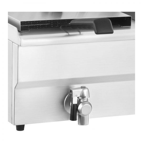 Dvojitá elektrická fritéza - 2 x 16 litrov s vypúšťacím kohútom - 2