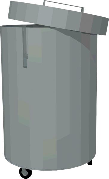 Kôš na odpadky pojazdný T-KNO-1 - 1