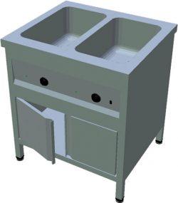 Ohrevný stôl na GN T-ASV-3L 2GN - 1Ohrevný stôl na GN T-ASV-3L 2GN - 1