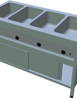 Ohrevný stôl na GN T-ASV-3L 4GN - 1Ohrevný stôl na GN T-ASV-3L 4GN - 1