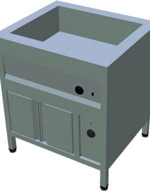 Ohrevný stôl na GN s ohrevnou skriňou T-ASV-RZ 2GN - 1