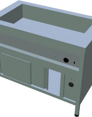Ohrevný stôl na GN s ohrevnou skriňou T-ASV-RZ 3GN - 1